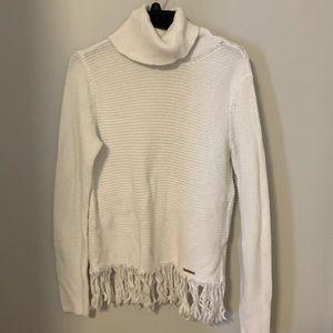 Michael Kors white turtleneck sweater